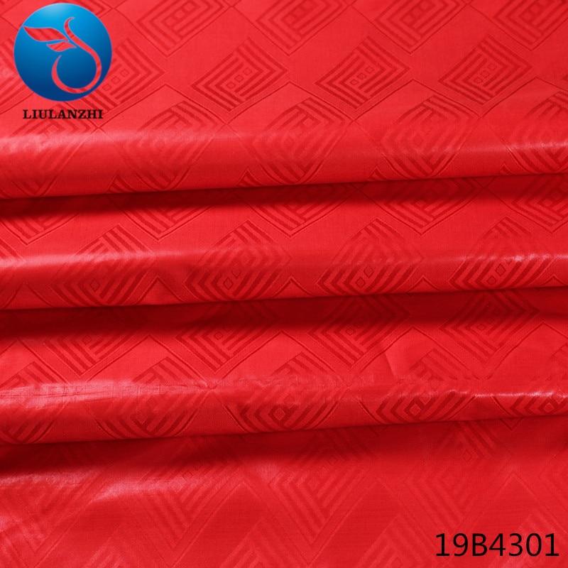 LIULANZHI african tissu bazin riche getzner african riche fabric red cotton fabric latest design 10yards/piece for garment 19B43 ...
