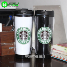 Isolierte Tasse Mondri doppelstock Plastikbecher Kaffeetasse Mode Reise Flasche 380 ml