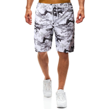 YASUGUOJI New 2019 Summer Loose Mens Shorts Beach Fashion White Camouflage Board Compression