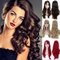 "19"" Full Wig Synthetic Fashion Long Curly Hair Wigs for Women Daily Costume Dress 11 Colors Available"