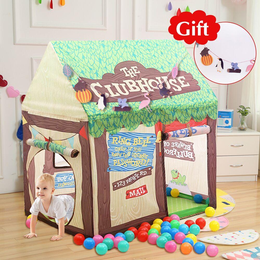 COUR Jouer Tente Pour Enfants Château Maison Cubby Pliable Bébé Jouet Tente Playhouse À L'extérieur À L'intérieur Jouet Enfants Tente pour Noël cadeau