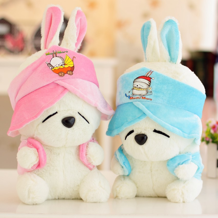 2016 New Arrival Cute One Piece Mashimaro Rabbit Plush Couple Doll PP Cotton Stuffed Rabbits Kids Toys Birthday Gifts image