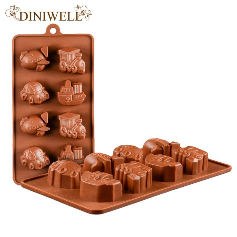 perfect diniwell flugzeug schiff schokolade kuchen formen. Black Bedroom Furniture Sets. Home Design Ideas