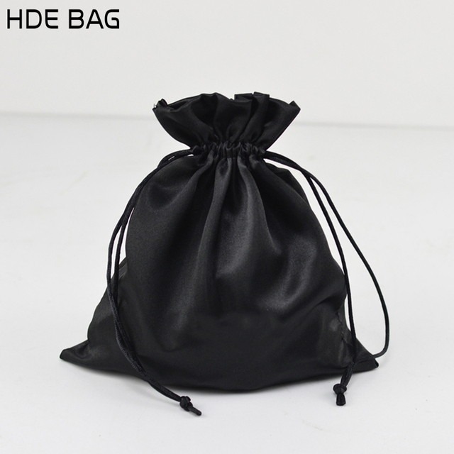 Black Satin Bag Packaging Jewelry Makeup Gift Wedding Party Storage