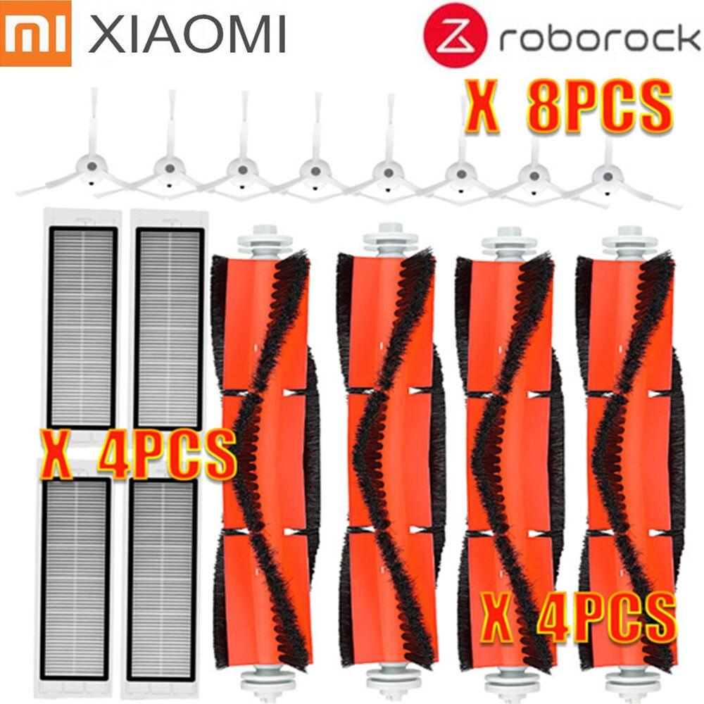 Kits de acessórios para xiaomi Roborock S50 S51 E25 S5 E20 C10 Roborock Peças Robô Vácuo Mop Panos de filtro Escova Lateral escova do rolo