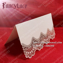 50X Lace Flower Laser Party Table Name Place Cards Wedding Decoration favors And Gifts Supplies Decor