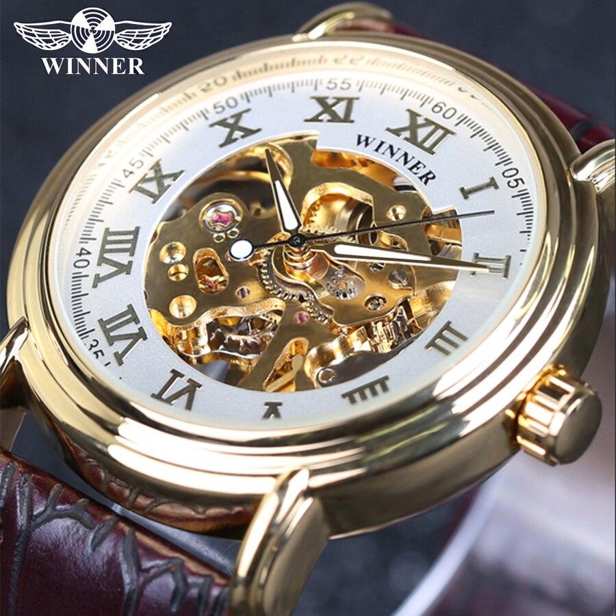 winner skeleton automatic mechanical watch хотите