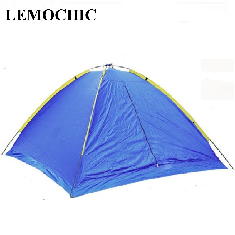 High quality Ultralarge 3-4 Person outdoor camping tents waterproof beach  barraca hunting fishing Single gazebo ultralight tent high quality outdoor 2 person camping tent double layer aluminum rod ultralight tent with snow skirt oneroad windsnow 2 plus