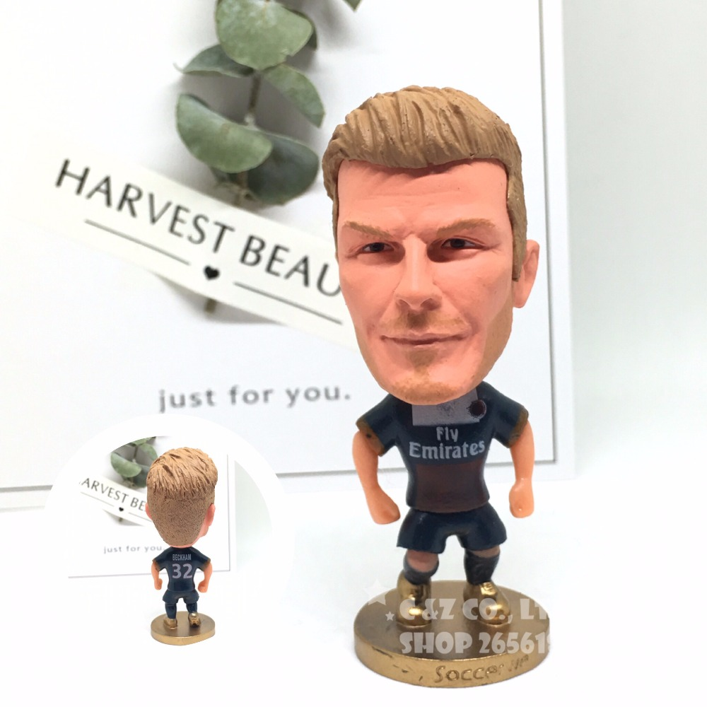Soccer figurine sports stars Beckham Prs classic Movable joints resin model toy action figure dolls collectible gift