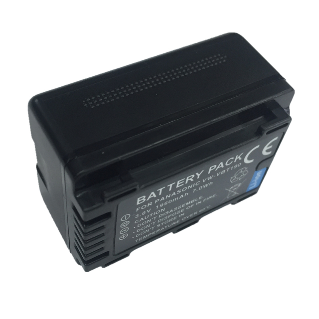 VW-VBT190 VW VBT190 VW-VBT380 lithium battery For Panasonic HC-V110 HC-V130 HC-V160 HC-V180 HC-V201 HC-V210 HC-V230 HC-V250 1