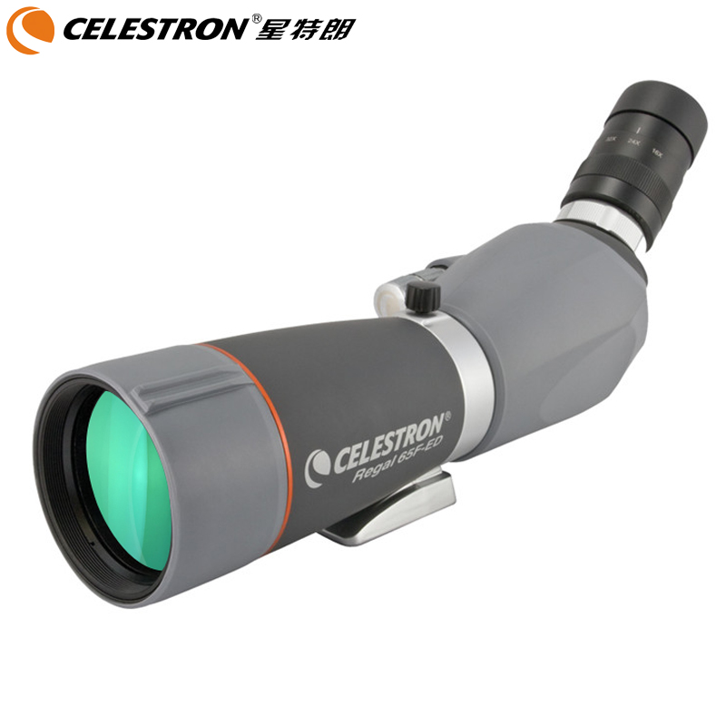 лучшая цена Celestron Ed lens nitrogen-filled waterproof anti-fog sharp high single-barrel telescope bird watching REGAL 65/80/100F-ED