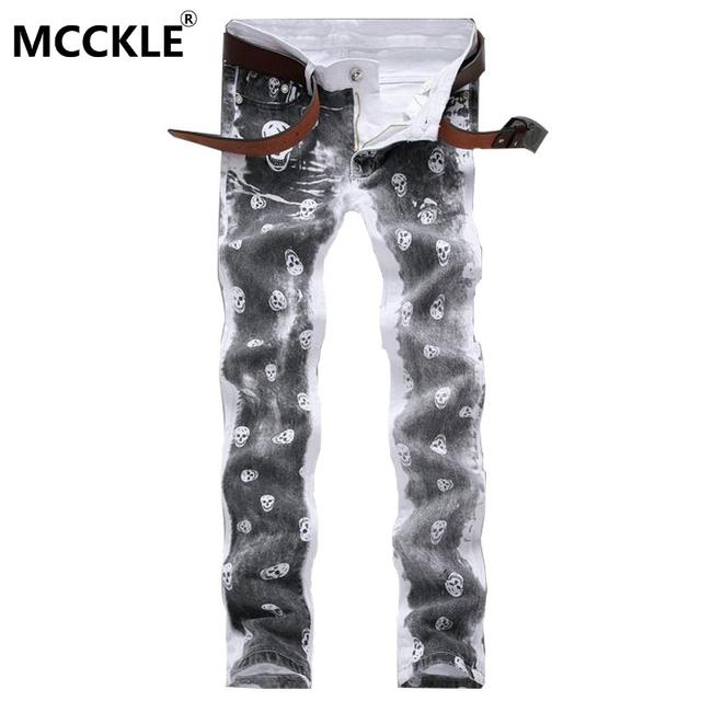 Moda Para Hombre Impreso Pantalones Slim Fit Floral Pintado Pantalones Para Hombre Cráneo Patrón Pantalón Chándal Para Los Jóvenes de La Novedad Q2703