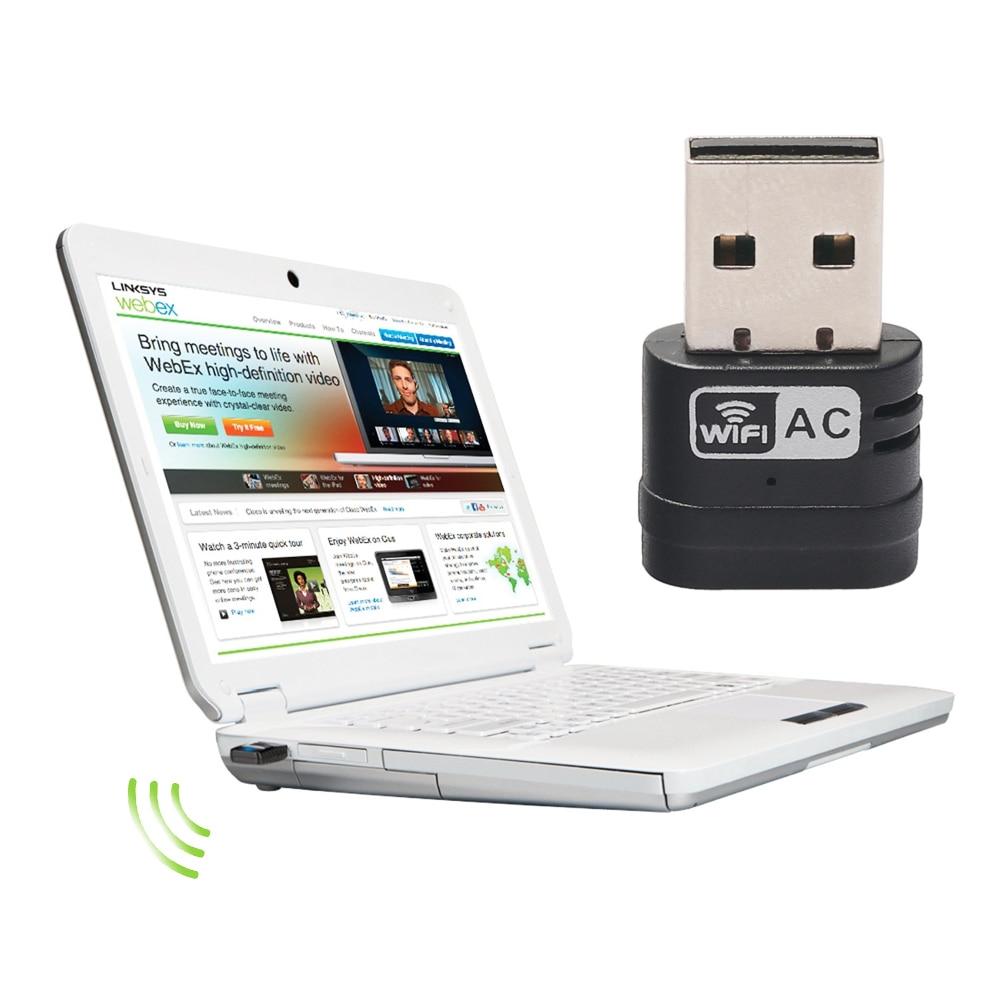 Venta caliente Mini PC Wifi 433 Mbps Adaptador USB WiFi Antena Tarjeta de Red de