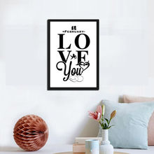 Love You Romantic Quote Arr Orinting Poster Home Decor For Living Room Bedroom Cartoon Cupid Heart Wall Picture Painting
