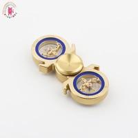 2017 New Seiko Mechanics Hand Spinners Metalen Tri Spinner Fidgets Brass EDC Fidget Spinners ADHD Anti