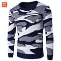 Камуфляж Свитера Мужчин 2016 Осень Зима Армия мужская Повседневная Пуловер Kintwear Моды Толщиной мужской Свитер Тянуть Homme