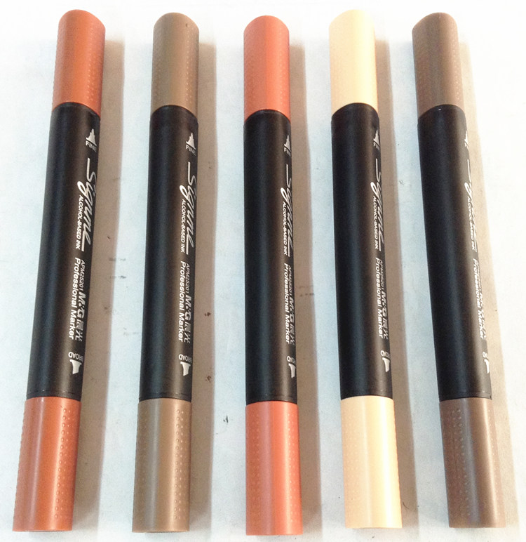 10 Different Degree Brown Colors Environmental Acohol Based Ink Professional Sketch Marker Architectural Design Art Marker brown g z sun wind and light architectural design strategies