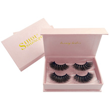 SHIDISHANGPIN 2 pairs 3d mink eyelashes natural long full professional makeup false lashes 1 box eye