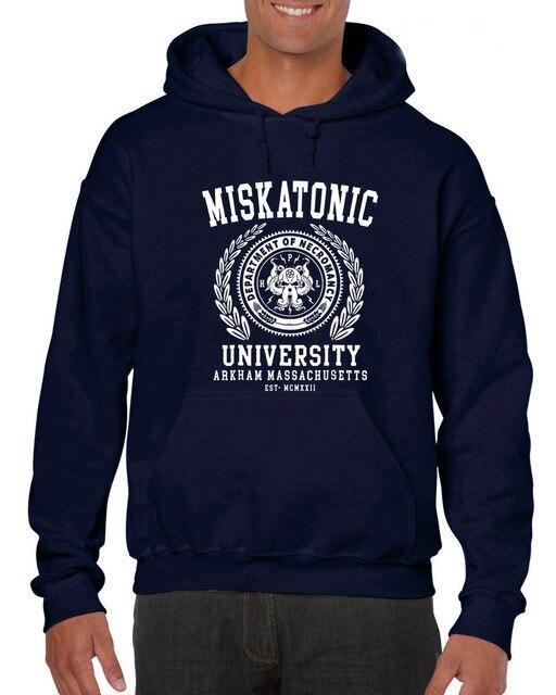 2018 fashion hot sale Hoodies Miskatonic University , Cthulhu, Lovecraft 2018 New Letter Print Creative P Sweatshirt