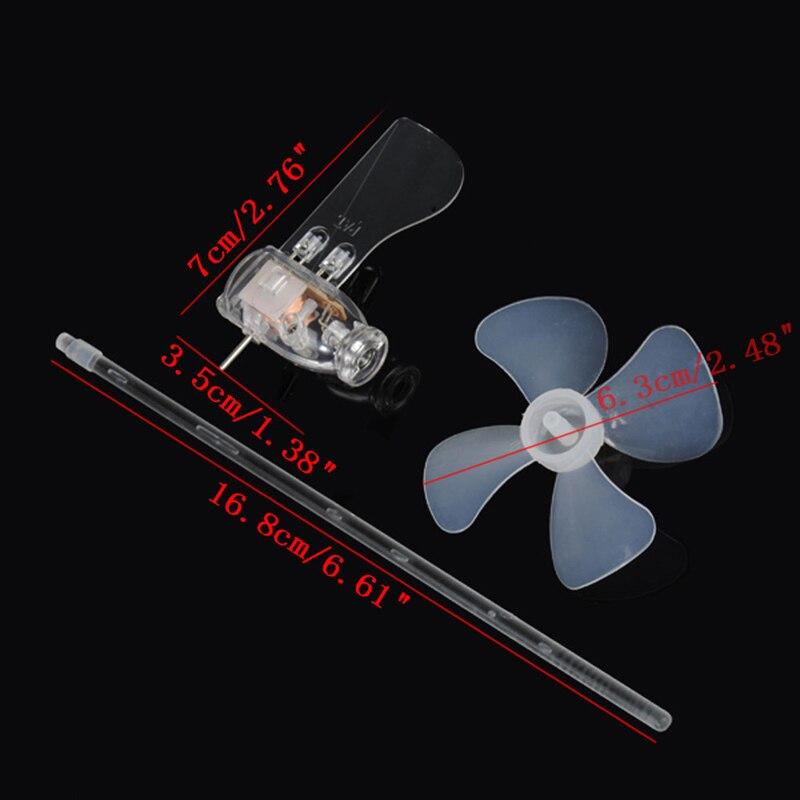 Маленький мини-генератор ветряных турбин светодиодные Обучающие инструменты образец модели горячий