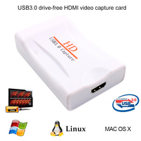 USB 3 0 HD Game Video Capture Card Live Streaming Record 1080p TV VCR DVD AV