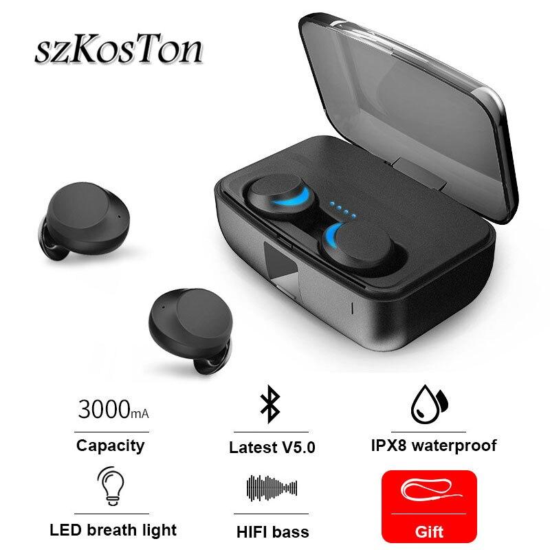 Suppression du bruit TWS Bluetooth 5.0 sans fil Bluetooth écouteurs contrôle tactile Auto allumer rapide appairage casque pour iPhone XS XR