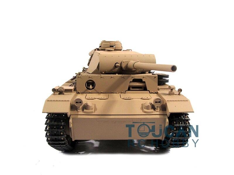 100% Metal Mato 1/16 Panzer III RC RTR Tank Model BB Shooting Pellet Yellow 1223 цена и фото
