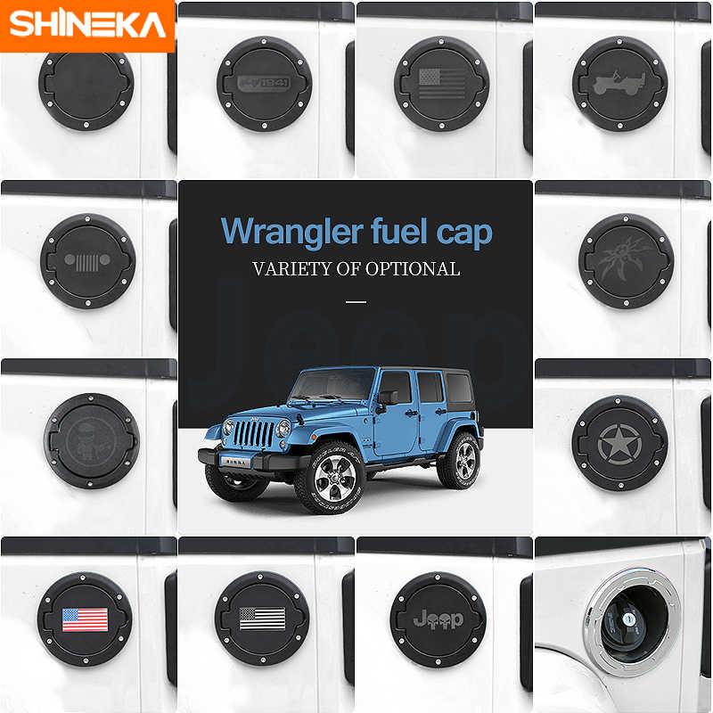 Black Car Door Fuel Tank Oil Tank Gas Cap Decor Cover Trim for Wrangler JL 2018+