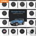 Крышка топливного бака SHINEKA  крышка газовой двери с кольцом  крышка масляного бака  подходит для 2 и 4 дверей Jeep Wrangler JK