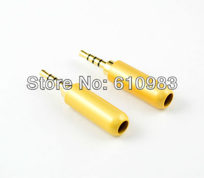 1piece straight 25mm 4 tracks stereo audio solder brass adapter connector for 4mm cable free brass track lighting