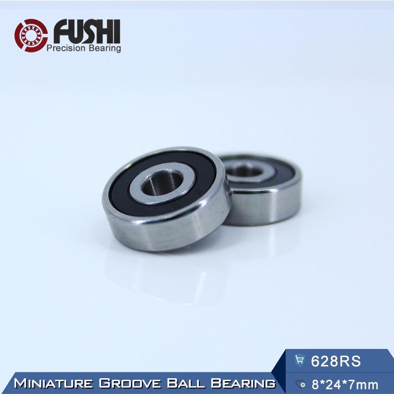 628RS Bearing ABEC-5 (10PCS) 8*24*7 mm Miniature Sealed 628-2RS Ball Bearings 628 2RS