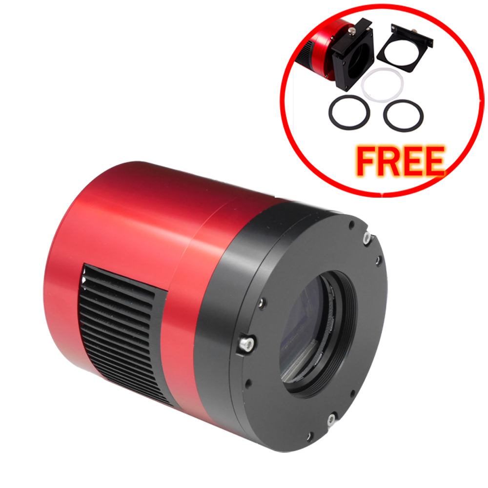 ZWO ASI071MC-Cool (color) (APS-C SIZE)  astronomy camera with free a set of 2  filter drawer an atlas of astronomy