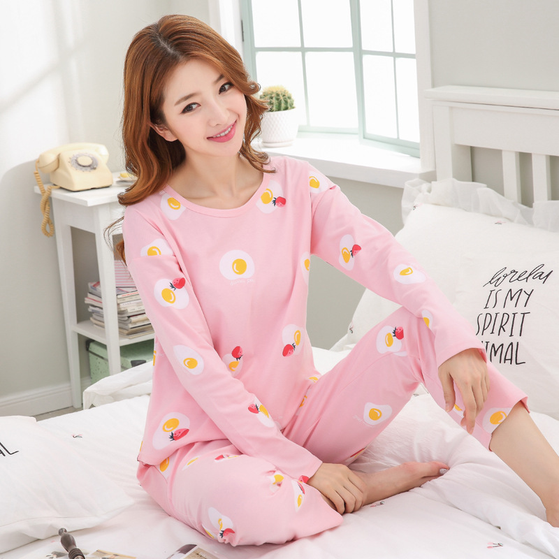 Women Clothes for Autumn winter Pajamas Sets O-Neck Sleepwear Lovely Rabbit Pijamas Mujer Long Sleeve Cotton Sexy Pyjamas Female 98