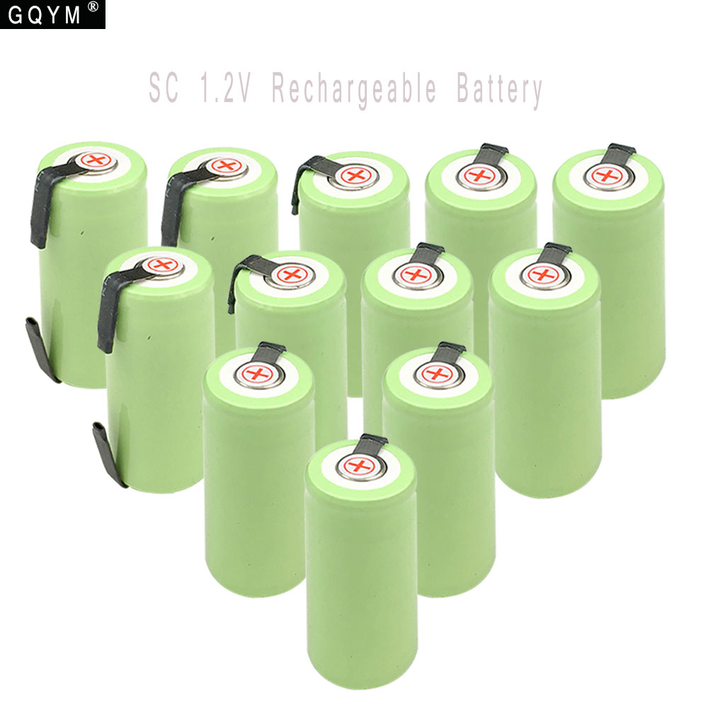 GQYM 12pcs 1.2V 22*42 Ni-MH Battery Sub C SC 22420 with an Extension Cord Processed into Tools Battery Pack