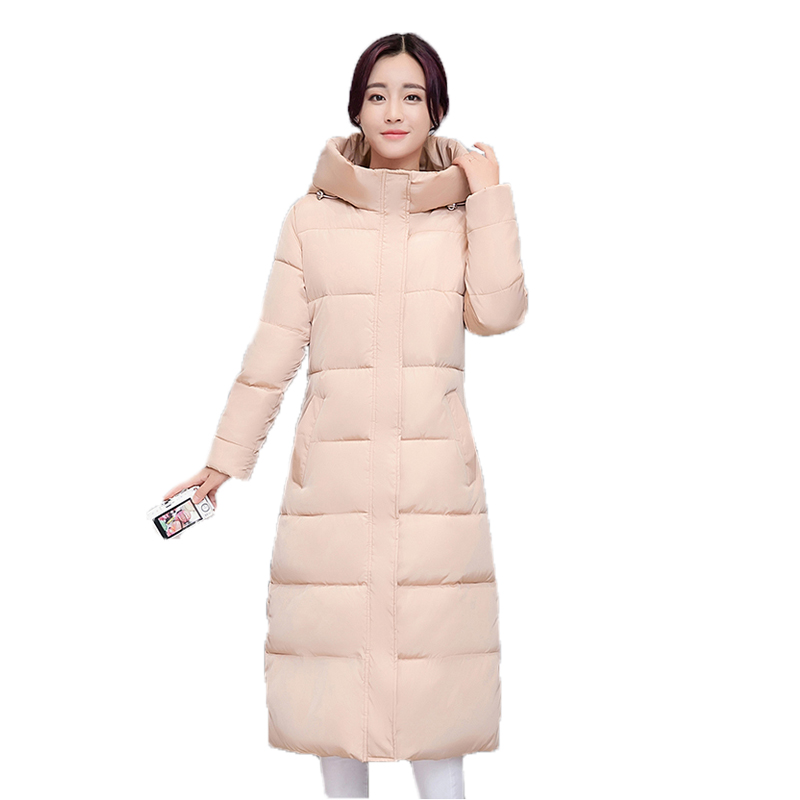 new Long warm thicken winter jacket women snow wear cotton padded outerwear for women womens coat size 2XL parka high quality