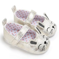 new Toddler Newborn Baby Shoes First Walkers Cartoon Cat Shoes Crib Bebe Girls Princess Ballet Soft Soled Anti-Slip Footwear Baby's First Walkers