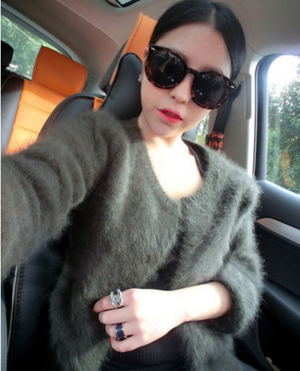 Pure mink cashmere cardigan sweater women genuine mink cashmere coat 100% cashmere sweat ...