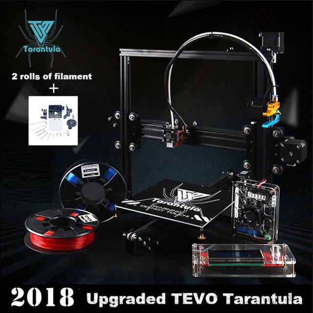 3d printer 2018 New TEVO Tarantula I3 Aluminium Extrusion 3dprinting 2 Rolls Filament SD card LCD As Gift 3D Printer kit ender 3