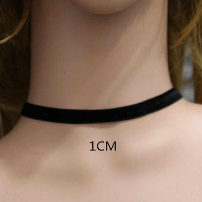 2017 Punk Gothic ลูกไม้สีดำกำมะหยี่สร้อยคอ Choker สร้อยคอสัก choker สร้อยคอสำหรับผู้หญิง Chocker collares mujer Collier Femme Bijoux