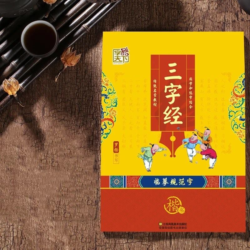 Three Character Classic Chinese studies calligraphy copybook in regular script exercise book art antistress for adults kids educ copybook for chinese calligraphy copy book for mo bi zi seal character heart sutra seal script shu fa