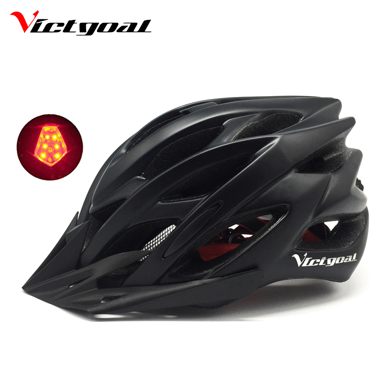 VICTGOAL Bicycle Helmet Breathable Men Women Cycling Helmet Led Back Light Integrally Molded Mountain Road Bike Helmets