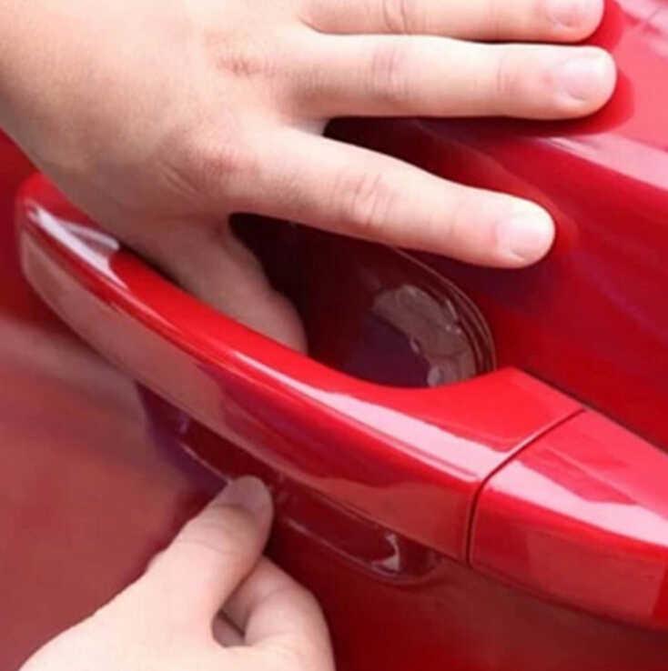 Klamka do drzwi samochodowych ochrony naklejka foliowa dla renault megane 2 3 duster/logan/captur/2016 laguna 2 clio fluence kadjar ducato