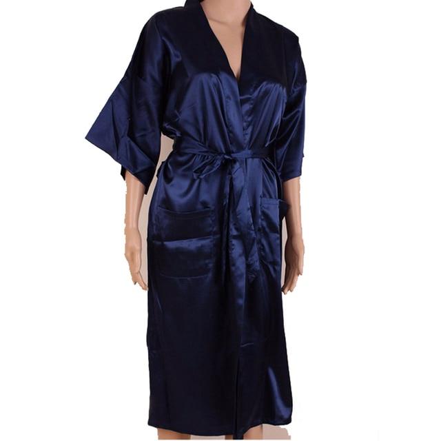 Nouveau rouge chinois hommes Sexy soie Robes couleur unie Kimono robe de bain rayonne vêtements de nuit mâle pyjama grande taille S M L XL XXL XXXL 011009