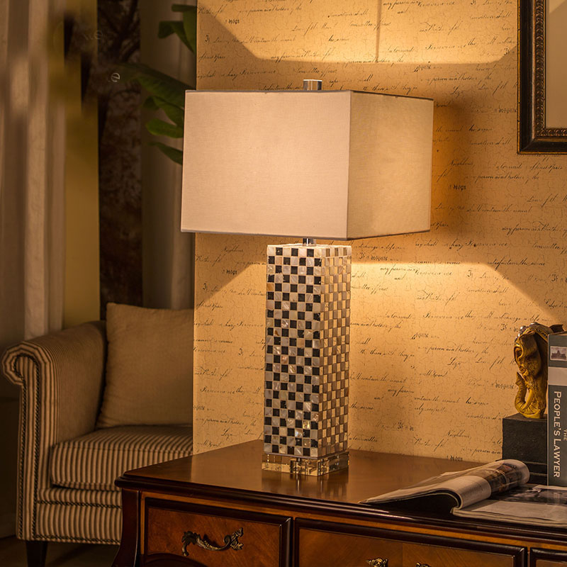 Modern Mediterranean 72cm Shell Body Table Light de mesa lamp luxtry mesaLamps Rope Table Lamps LED Bedroom Lamps body smile costa mesa