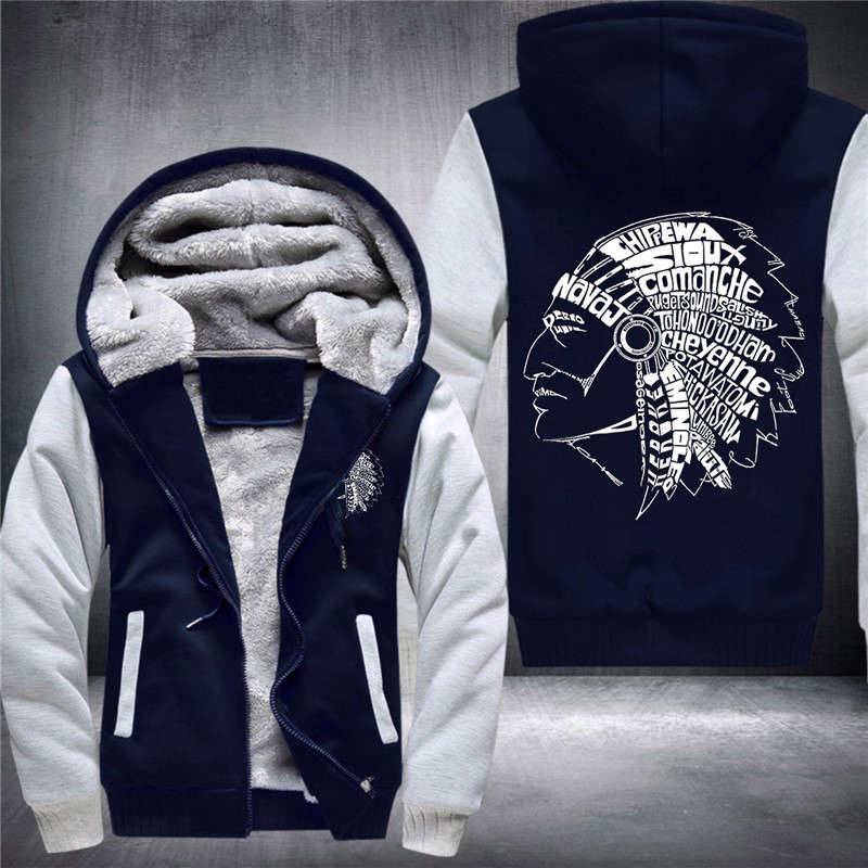 39 Duong I Am A Native America Men's Fashion Thickened Hoodies