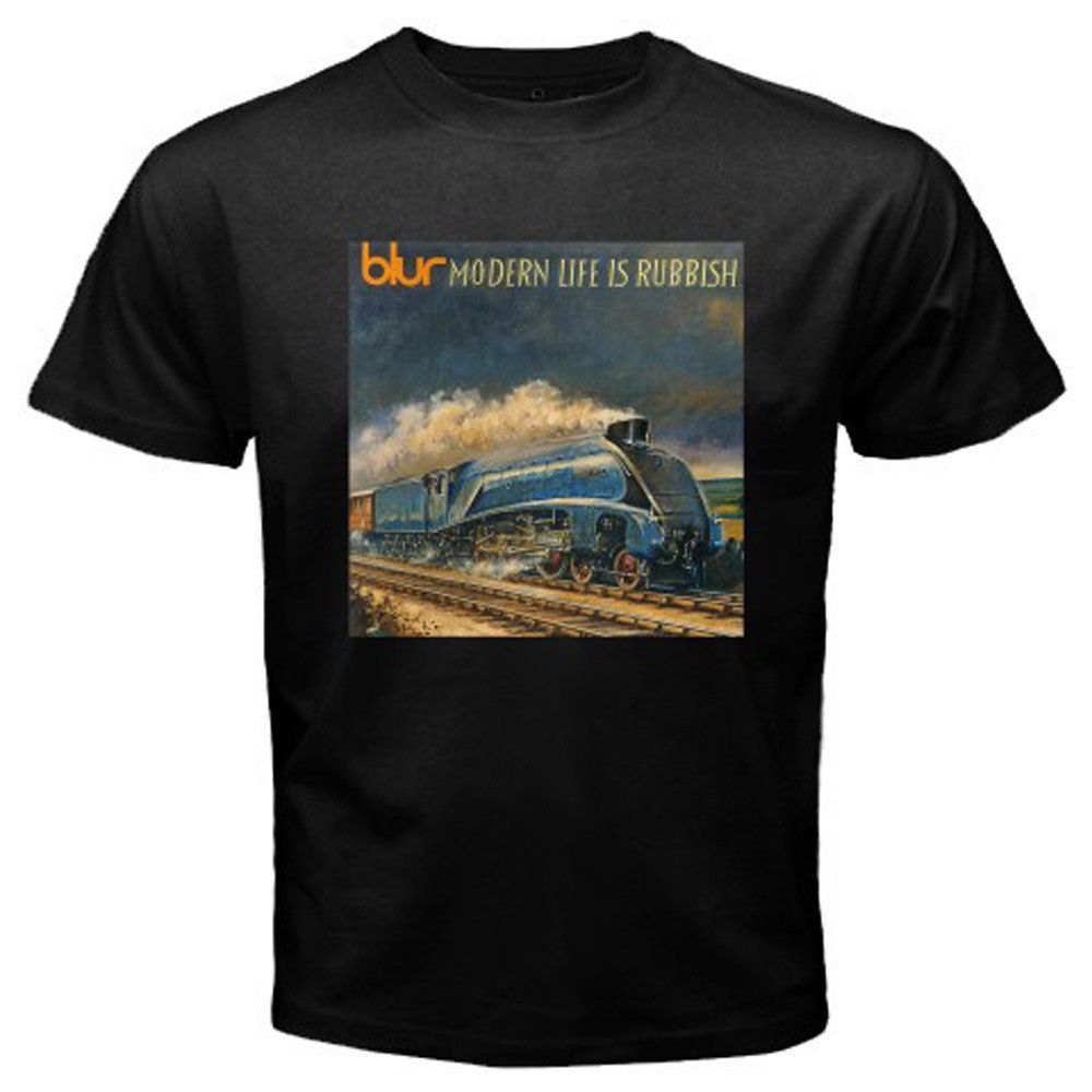 New Blur Modern Life Is Rubbish Rock Band Men's Black T-Shirt Size S to 3XL image
