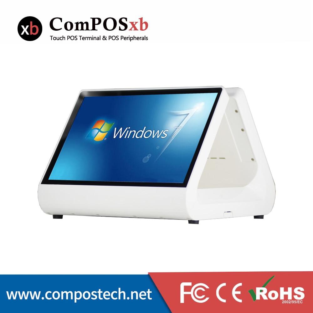 """Windows 12 """"12"""" емкостный сенсорный pos машина/кассовый терминал системы"""