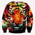 Большой тигр печатных кофты мужчины/женщины 3d толстовки животных осень топы прекрасный galaxy толстовки тонкий S-XL