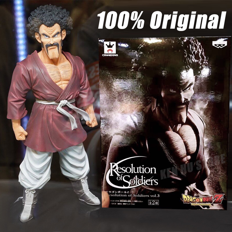 100%Original Dragon B Z Super Mr.Satan Hercule Resolution of Soldiers anime cartoon <font><b>action</b></font> <font><b>toy</b></font> figures Collection model <font><b>toy</b></font>