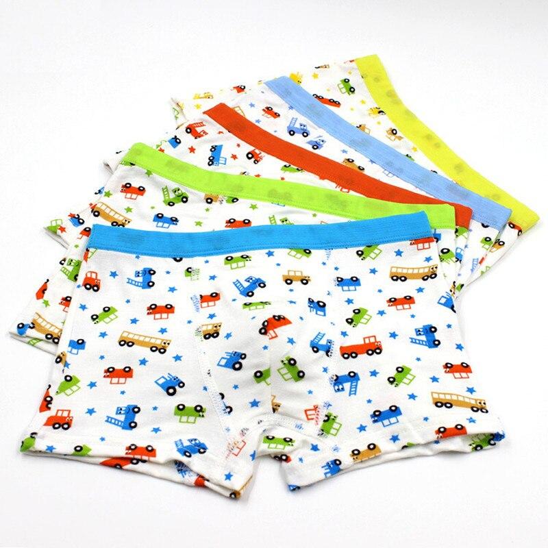 Child's Good Quality Modal Boy's Underwear Cars Kids Boxer Briefs Cartoon Children Baby Boy Shorts 1 Piece